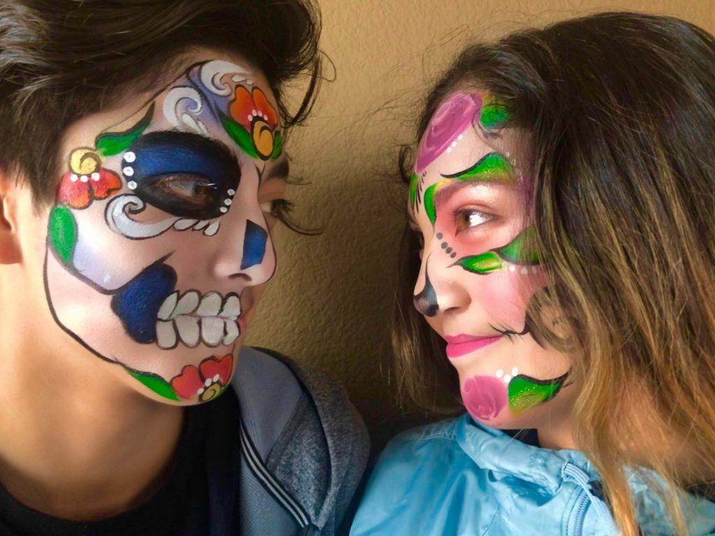 Boy and Girl Sugar Skull Design